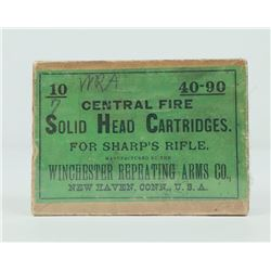 Solid Head Cartridges 40-90 Sharps Rifle Box