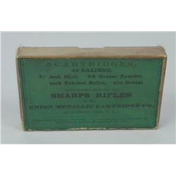 3 1/4 Shell Sharps Rifles .40 Cal 5 Cartridges Box