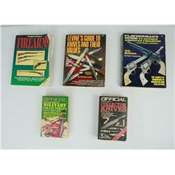 Lot of 5 Firearm Books Flayderman's Levine's Knife