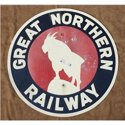 Wonderful Great Northern Railway Railroad Sign