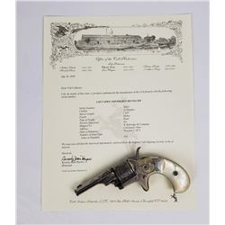 Factory Engraved Colt Open Top Revolver w/ Letter