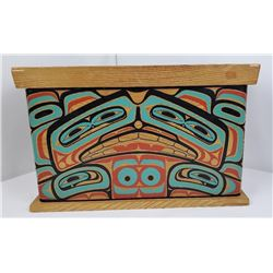 Northwest Coast Tlingit Indian Bentwood Box