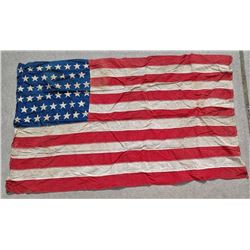 Antique Indian Territory American 46 Star Flag