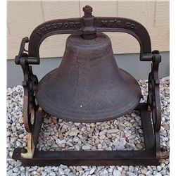 Antique Stover Freeport School Church Bell