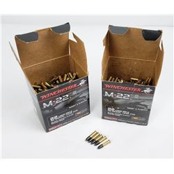 1000 Rounds of .22 LR Ammo Winchester M-22 Black