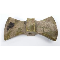 Very Nice Old Indian Slate Bowtie Bannerstone