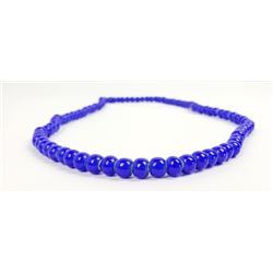Hudson Bay Blue White Heart Trade Bead Necklace