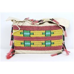 Cheyenne Indian Beaded Teepee Tipi Bag