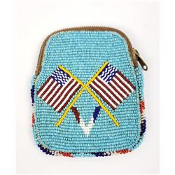 Crow Indian Montana WW1 Victory Beaded Pouch