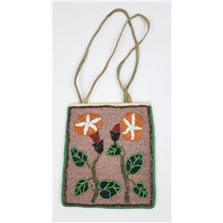 Beaded Plateau Indian Flat Bag Flowers