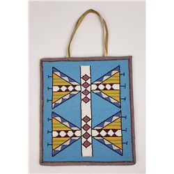 Beaded Plateau Indian Flat Bag Geometric Design