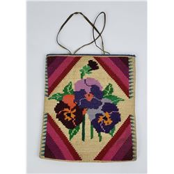 Outstanding Nez Perce Indian Corn Husk Bag