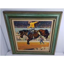 Rodeo Painting - George Quarta by Jim Sayre 1975