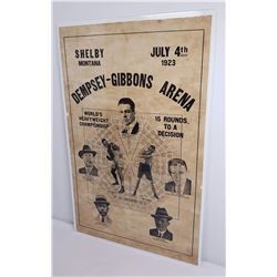 Original Dempsey-Gibbons Montana Fight Poster