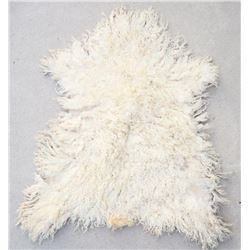 Montana White Angora Wool Sheep Hide Rug
