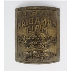 Richport Candian Malt Whiskey Label Printing Plate