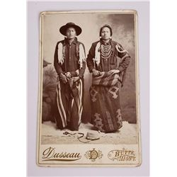 Butte Montana Piegan Indian Cabinet Card Photo