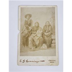 Cummings Idaho Plateau Indian Family Cabinet Photo
