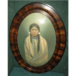 Plateau Indian Woman with Chief Blanket Photograph