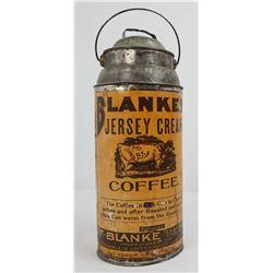 Blanke's Jersey Cream Coffee Tin Can