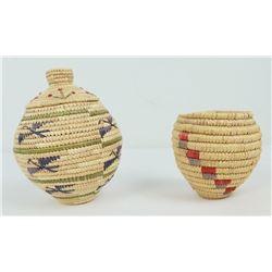 Lot of 2 Modern Woven Eskimo Baskets