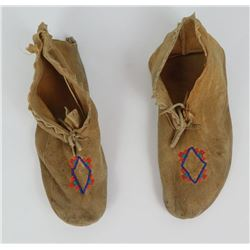 Montana Native American Indian Moccasins Beaded