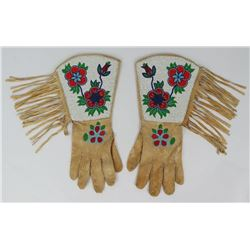 Nice Plateau Indian Beaded Gauntlet Gloves