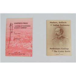Lot of 2 7th Cavalry Custer Battle Books