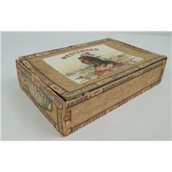 Saloon Indian Punchboard Cigar Box Gambling Game