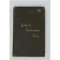 Guide to Yellowstone Park Haynes 1890 Montana