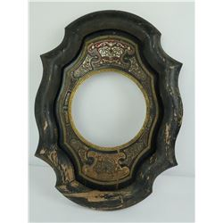 Antique Chinese Inlaid Clock Face or Jade Frame