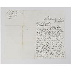 John Healey Fort Hamilton Montana Territory Letter