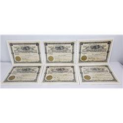 6 Montana Blackfoot Gold Mining Company Stocks