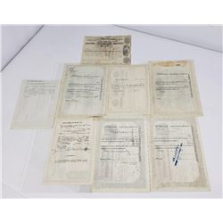 Lot of Montana Paper Receipts Yellowstone Park