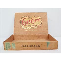 D.F. Hall's Gas City Cigar Box Havre Montana