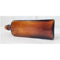 J.D. Eastman Deer Lodge Montana Bitters Bottle