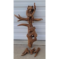 Black Forest Carving Hall Umbrella Stand Piece
