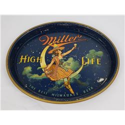 Nice Original Miller High Life Moon Girl Beer Tray
