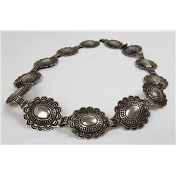 Old Pawn Sterling Silver Navajo Concho Belt
