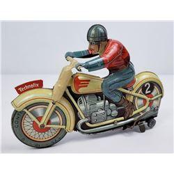 Technofix German Motorcycle Tin Toy