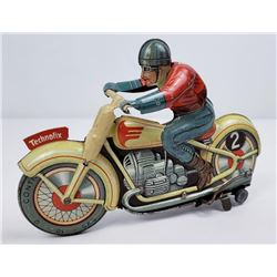 Technofix German Motorcycle Tin Toy