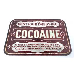 Burnett's Cocoaine For the Hair Reverse Glass Sign