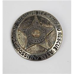 Obsolete Missoula Montana Special Police Badge