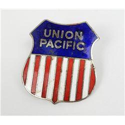 Montana Union Pacific Railroad Enamel Shield Pin