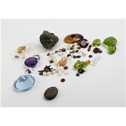 Large Lot of Gemstones Recovered From Jewelry