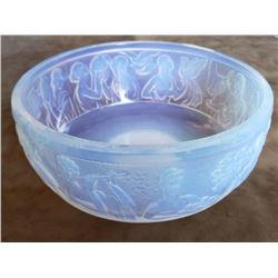 Sabino France Art Glass Bowl Opalescent