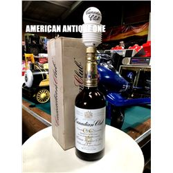 Canadian Club empty bottle with hand pump
