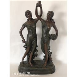 "BRONZED 2 WOMEN ""TOGETHER"" STATUE 2FT TALL"
