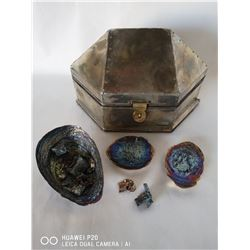 SILVER STYLE TREASURE BOX WITH HAND MADE BISMUTH