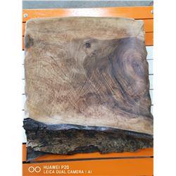 CUSTOM CARVED WALNUT PLATTER. MADE BY OMU CUSTOM